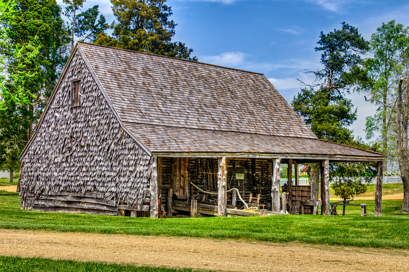 Corn Crib, Sotterley Plantation, Hollywood, St. Mary's County, Maryland