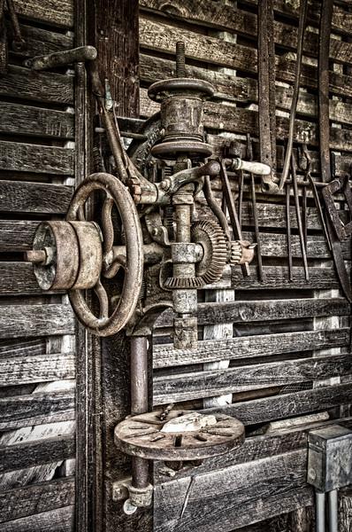 Drill Press, Corn Crib, Sotterley Plantation, Hollywood, St. Mary's County, Maryland