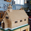 A local man, Jack Blow made this model of the church out of matchsticks.