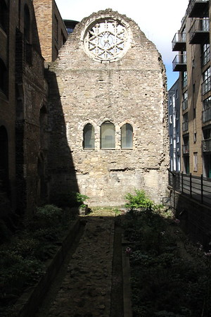 West wall of palace of the Bishop of Winchester