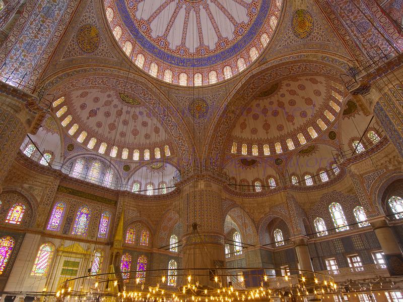 Istanbul Blue Mosque interior