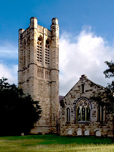 Church, St. Andrew's Cathedral, downtown Honolulu, Oahu, Hawaii