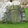 A strange headstone in the churchyard