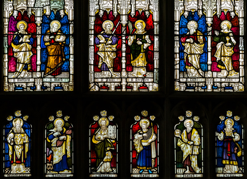 Biblical Figures in Stained Glass