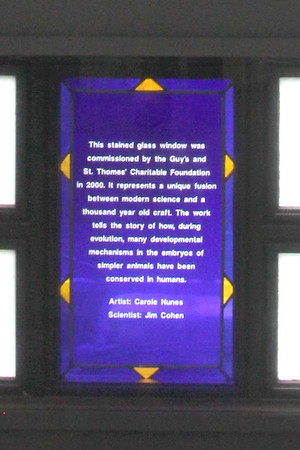 Information about stained glass commissioned in 2000.