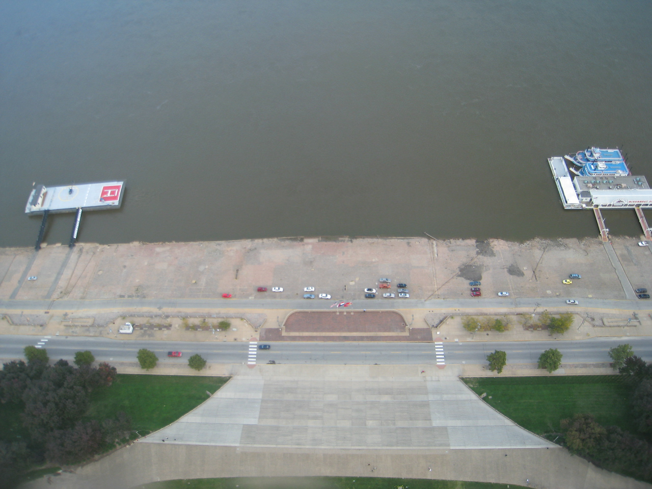 View from the top of the arch, looking east