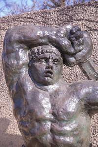 The Great Warrior of Montauban, by Emile-Antoine Bourdelle, 1898 to 1900, cast 1956, bronze, in the Hirshhorn Museum and Sculpture Garden, Washington, D.C.
