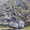 Thinker on a Rock, Barry Flanagan, 1997, cast bronze, National Museum of art Sculpture Garden, Washington, D.C.