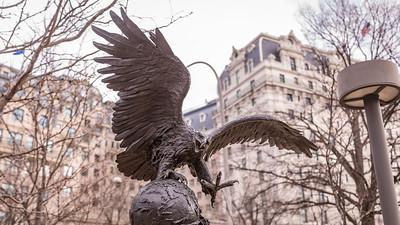 The Bex Eagle, by Lorenzo E. Ghiglieri, 1980, bronze, Washington, D.C.