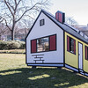 House I, by Roy Lichtenstein, 1996/1998, painted aluminum, National Museum of Art Sculpture Garden, Washington, D.C.