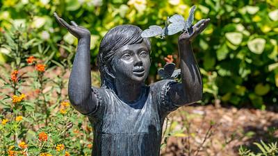 Beautiful Butterflies statue in Foster Botanical Garden, Honolulu, Hawai`i