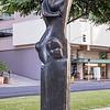Sculpture at Bishop Square on downtown Honolulu, O`ahu, Hawai`i