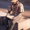 """""""What's Next"""" by Jodi Endicott, 2000, in downtown Honolulu, O`ahu, Hawai`i"""