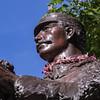 Robert William Kalanihiapo Wilcox statue in downtown Honolulu, O`ahu, Hawai`i