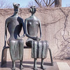 King and Queen, by Henry Moore, 1952 to 1953, bronze, in the Hirshhorn Museum and Sculpture Garden, Washington, D.C.