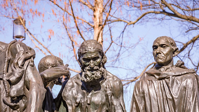 The Burghers of Calais, by Auguste Rodin, 1884 to 1889, cast 1953 to 1959, bronze, Hirshorn Museum and Sculpture Garden, Washington, D.C.