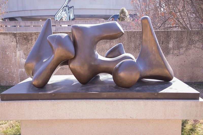 "Working Model for ""Three-Way Piece No. 3: Vertebrae"", by Henry Moore, 1968, cast 1969, bronze, at the Hirshhorn Museum and Sculpture Garden, Washington, D.C."