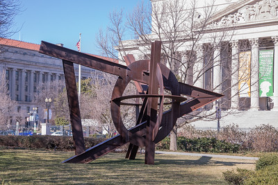 Aurora, by Mark di Suvero, steel, at the National Gallery of Art Sculpture Garden in Washington, D.C.