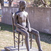 Young Girl on a Chair, by Giacomo Manzù, 1955, bronze, at theHirshhorn Museum and Sculpture Garden, Washington, D.C.