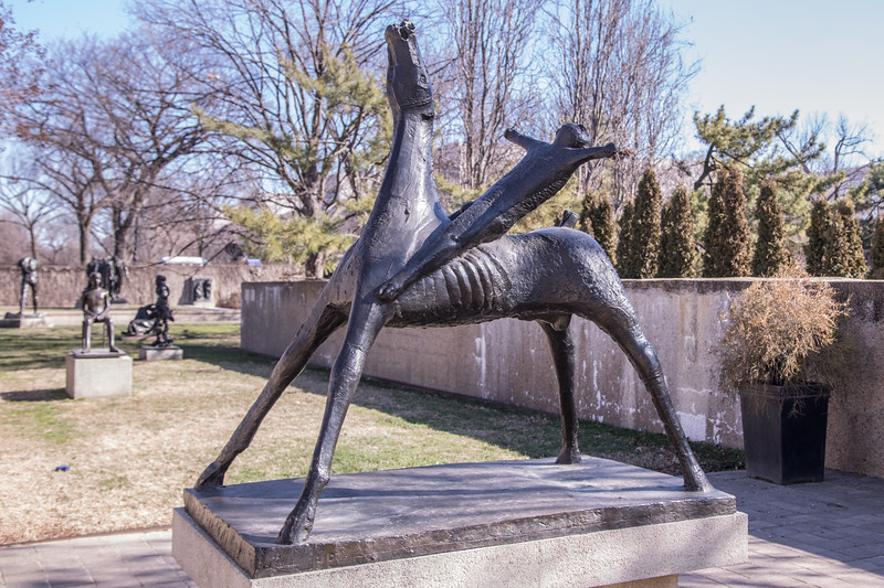 Horse and Rider, by Marino Marini, 1952 to 1953, bronze, at the Hirshhorn Museum and Sculpture Garden