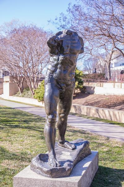Walking Man, by Auguste Rodin, 1900, enlarged 1905, cast 1962, bronze, in the Hirshhorn Museum and Sculpture Garden, Washington, D.C.