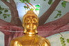 Statue of Lord Buddha at the Buddhist temple in Queens.