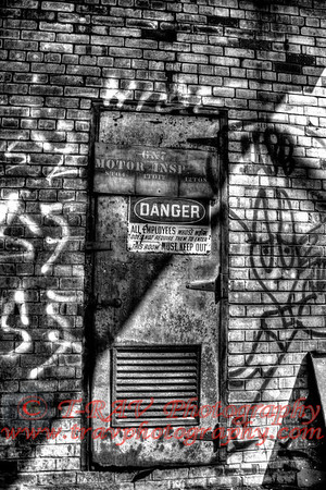 Danger Door_BW