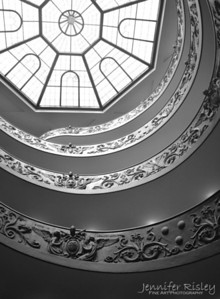 Vatican Museum Staircase & Skylight
