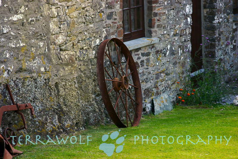 Wagon wheel at the Trevigue