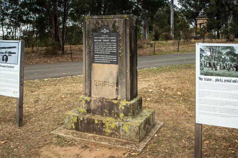 Parramatta Park, NSW, Australia<br /> Memorial to William Hart, a Parramatta dentist who held the first pilot's license in Australia. This one commemorates his flight from Penrith to Parramatta Park on 4 Nov 1911.