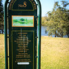 Site 8 of 12 on the 'Hawkesbury Artists Trail' - the approximate point where Arthur Streeton painted 'Summer Noon, Hawkesbury River'.