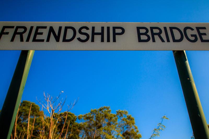 Friendship Bridge, commemorating the meeting of Governor Phillip and the Darug Aboriginal leader, Yarramundi on 14 April 1791.