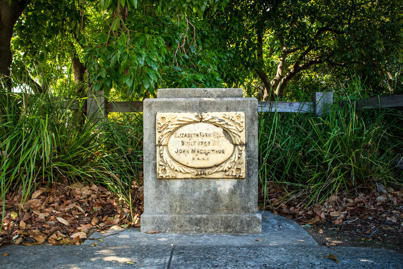 Parramatta, Sydney, NSW, Australia<br /> Unveiled by Governor General Lord Stonehaven on 25 March 1926, this stone marks John Macarthur's property Elizabeth Farm (named after his wife), built in 1793. The house still stands, and is situated nearby.