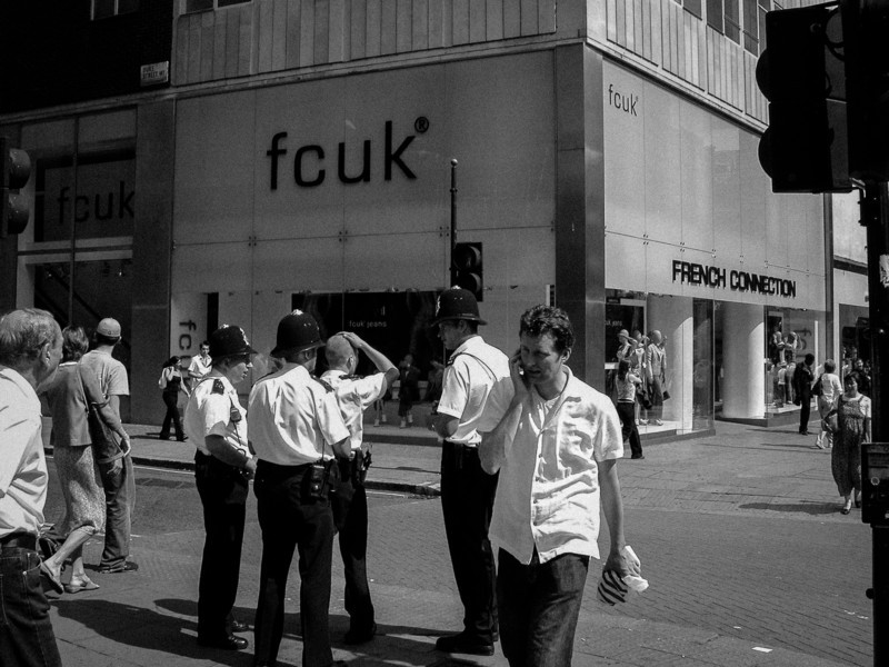 Oxford St, London<br /> Fcuk.