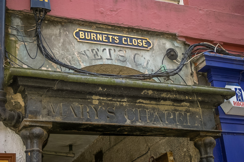Burnet's Close, Royal Mile, Edinburgh<br /> Burnet's Close, Royal Mile, Edinburgh