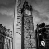 Merchant City, Glasgow, Scotland<br /> The Tolbooth Clock Tower; all that remains of the original City Chambers, destroyed by fire in 1926.