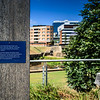 The Parramatta Fishways Project, with one of the fish ladders behind. Near the Marsden St Weir.