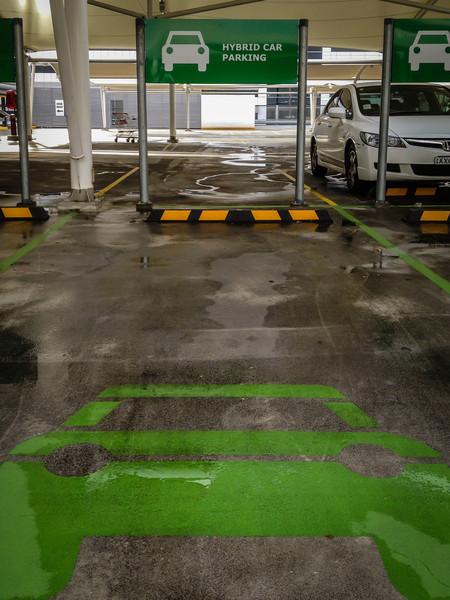 Sydney, NSW, Australia<br /> Hybrid Car Parking bays at Rhodes Shopping Centre.