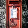Edinburgh, Scotland<br /> Wall-mounted post box.