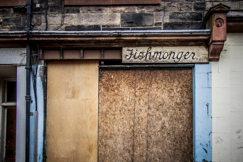Leith, Scotland<br /> Fishmonger.