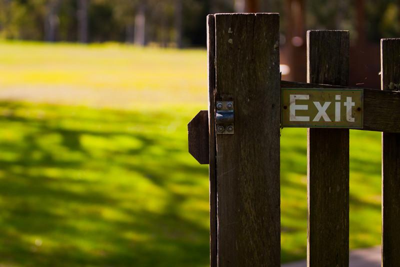 Parramatta Park, NSW, Australia<br /> Exit.