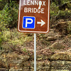 Glenbrook, Blue Mountains, NSW, Australia<br /> Parking area for the 1833 Lennox Bridge, commonly known as the 'Horseshoe Bridge'.