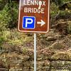 Glenbrook, Blue Mountains, NSW, Australia<br /> Parking area for the 1833 Lennox Bridge, commonly known as the 'Horseshoe Bridge'.