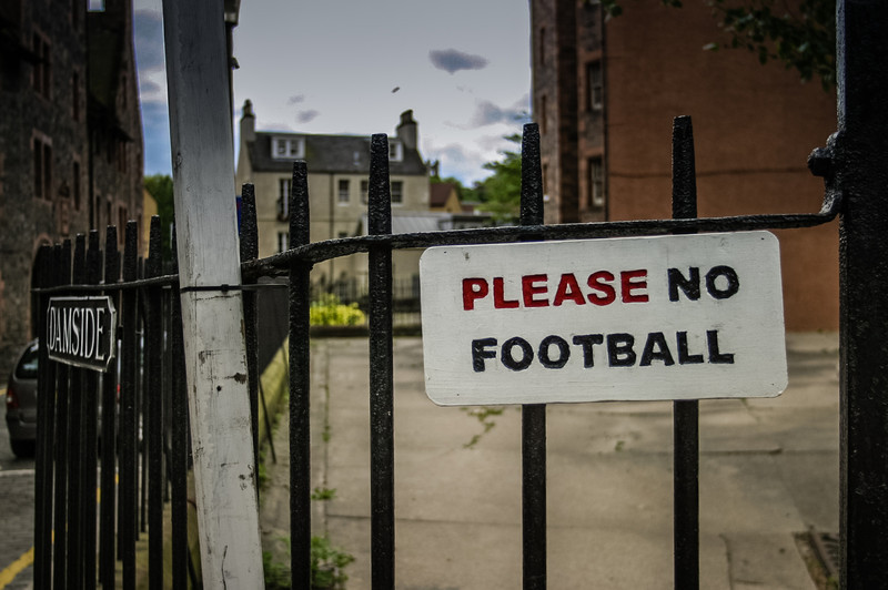 Edinburgh, Scotland<br /> No football.