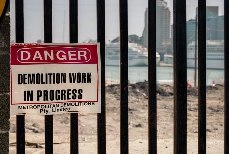 Demolition Work in Progress.