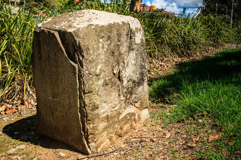 Parramatta, Sydney, NSW, Australia<br /> Probably one of the 9 boundary markers (6 still in or near their original locations - this one is just off Alfred St, near the Clay Cliff Creek stormwater catchment) defining the edge of Parramatta. Erected in 1839 by David Lennox.