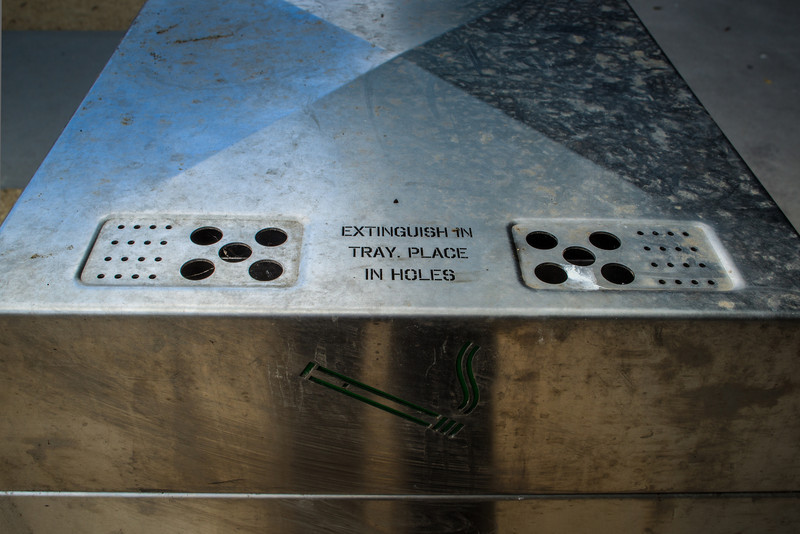 Ryde, Sydney, Australia<br /> Extinguish in Tray. Place in Holes.