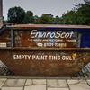 Leith, Edinburgh, Scotland<br /> Empty Paint Tins Only.