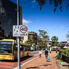 Parramatta, NSW, Australia<br /> Church St, approaching Lennox Bridge. Prince Alfred Park on right.