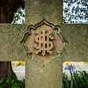 "Ryde, Sydney, Australia<br /> The IHS Monogram. IHS is a popular Latinized monogram acronym from the Roman 3rd Century based on the GREEK letters Iota (i), the first letter of Iēsous (Ἰησοῦς), Greek for ""Jesus""; Theta (th), the first letter of Theos (Θεóς), Greek for ""God""; and Sigma (s), the first letter of sōtēr (Σωτήρ), Greek for ""Savior"". <br /> <br /> Thus, IHS = ἸΘΣ = Ἰησοῦς, Θεος, Σωτήρ = Iēsous, Theos, Sōtēr = Jesus, God, Savior."